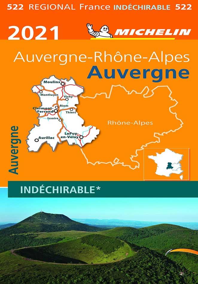 Carte Michelin Auvergne